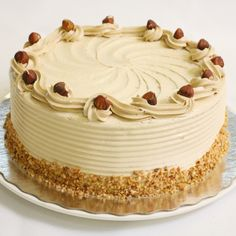 Hazelnut foam cake is always a success at birthdays and parties! Pie Cake, No Bake Cake, Sweet Recipes, Cake Recipes, Baking Bad, Hazelnut Cake, Pie Dessert, Food Cakes, Cakes And More