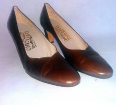 Salvatore Ferragamo Shoes ~ Elegant Brown Pumps / Heels. Size 7.5 AA #SalvatoreFerragamo #PumpsClassics