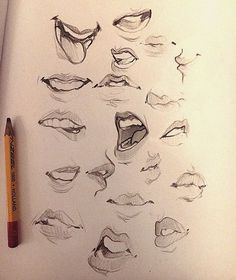 Some mouths I doodled thought add them haha Have a n - Anime Wolf Drawing Techniques, Drawing Tips, Drawing Sketches, Art Reference Poses, Drawing Reference, Art Du Croquis, Mouth Drawing, Drawing Expressions, Sketching Tips