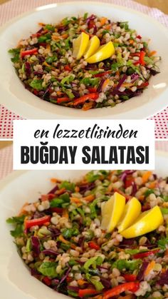 Buğday Salatası Tarifi – Nefis Yemek Tarifleri – Salata meze kanepe tarifleri – The Most Practical and Easy Recipes Salad Menu, Salad Dishes, Crab Stuffed Avocado, Cottage Cheese Salad, Tomato Vegetable, Turkish Recipes, Easy Salads, Healthy Salad Recipes, Pasta