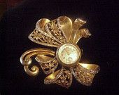 Vintage Brooch with Watch by Roxy
