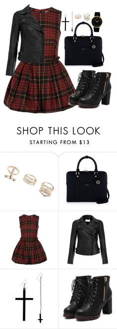 """""""Untitled #3331"""" by natalyasidunova ❤ liked on Polyvore featuring Topshop, Henri Bendel, McQ by Alexander McQueen, MuuBaa and Larsson & Jennings"""