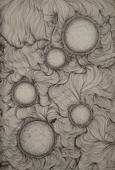 by Sama-Dunno on DeviantArt - Site Title Abstract Line Art, Abstract Drawings, Line Art Flowers, Flower Art, Dark Drawings, Anatomy Art, Zentangle Patterns, Psychedelic Art, Ink Art