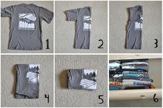 diy: organized t-shirt drawers