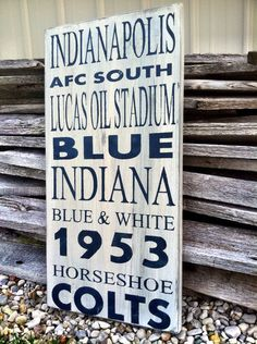 Football Decor Indianapolis Colts Football Sign by CharmingWillows