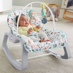 Fisher-Price Infant-to-Toddler Rocker Argos Portable baby seat and rocking chair for use from infant to toddler up to lb kg Two recline positions and removable Baby Up, Baby Kids, Grey Seat Pads, Baby Swings And Bouncers, Toddler Chair, Baby Rocker, Baby Bouncer, Baby Afghan Crochet, One Color