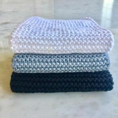Instructions for the best dishcloths and a giveaway - 1 pair of knitting needles No. cast on 47 stitches and knit Record of Knitting Wool spinning, weaving and sewing job. Free Knitting, Baby Knitting, Free Crochet, Knit Crochet, Knitting Patterns, Simple Crochet, Crochet Rope, Knitting Needles, Beginner Knitting Projects