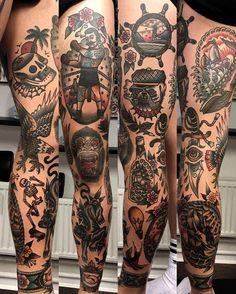 Rad work done by @siggystarfishtattoo________________________________#tattoo #tattoos #traditionaltattoo #americantraditionaltattoo #radtrad #ink #inked #traditional #art #artist #tattooartist #tattooed #tattooart #traditionaltattooing #oldschool #oldschooltattoo #traditionaltattoos | Artist: @rad_trad_tattoo