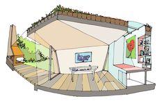 Garden studio in Amsterdam Watergraafsmeer / CC-Studio Garden studio in Amsterdam Watergraafsmeer / CC-Studio – ArchDaily - Architectural Rendering