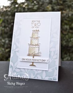 Stampin' Up ideas and supplies from Vicky at Crafting Clare's Paper Moments: Irresistibly Yours for a wedding day - SU - Your Perfect Day