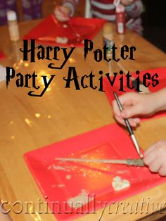 Great ideas for Harry Potter Birthday Party activities.  I especially loved the idea how to do a sorting hat using a baby monitor!