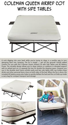 10 Products That Will Turn Camping Into Glamping (Glamorous Camping) Beds For Camping, Camping Hacks Tent, Camping Table, Family Camping, Camping Tent Heater, Camping Store, Camping Tips, Beach Camping, Luxury Camping