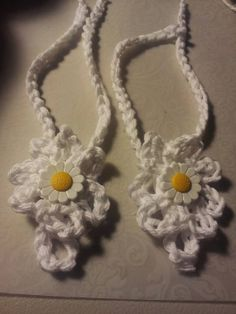Hand Crochets barefoot baby sandals.