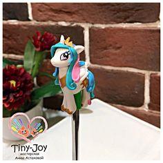 «И снова принцесса Селестия, на этот раз на десертной ложечке #tiny_joy #mylittlepony #pony #пони #поняши #праздник #идея #интерьер #2016 #новыйгод»