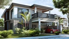 Do you look for a heart touching design? Are you really scared of ugly houses? Is there really no hope for you to find your best house design after each day surfing? Flat Roof House Designs, Cool House Designs, Modern House Design, Modern Bungalow House, Modern House Plans, Facade House, House Roof, Philippines House Design, Philippine Houses