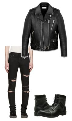 """""""Untitled #6"""" by skylar9brynn9hayden ❤ liked on Polyvore featuring Yves Saint Laurent, Steve Madden, men's fashion and menswear"""