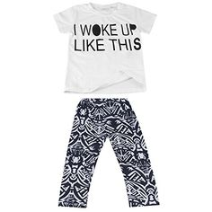 Toddler Kids Baby Girls Outfit Clothes Tshirt TopsLong Pants Trousers 2PCS Set -- Learn more by visiting the image link.Note:It is affiliate link to Amazon.