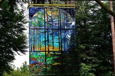 Awesome stain glass sculpture, Forest of Dean. Sculpture trail.