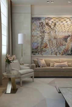 Softness and whispers in this room, with the art taking the focus. Casa Cor São Paulo 2016 - Roberto Migotto