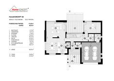 Projekt domu HomeKONCEPT-40 | HomeKONCEPT Floor Plans, Drawing Rooms, Projects, Floor Plan Drawing
