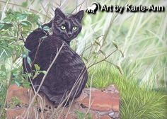 Original+pet+cat+feline+animal+woods+woodland+by+artbykarieann,+£750.00