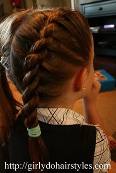 Girly Do's By Jenn: Two Strand Braid -  I struggle with this one!  Hopefully this is the tutorial that will finally click!
