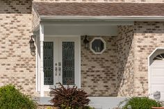 Transform your vinyl bi level home into a beautiful brick home. This home was once vinyl and has since gotten a brick makeover with the help of our Thin Tech Masonry Support System and Glen-Gery Thin Brick (Silverbrook). thin brick, home renovation, bi level, brick home, brick house, vinyl to brick, masonry home