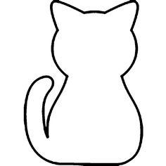 Раскраски животные шаблоны кошка контур, животные для вырезания из бумаги