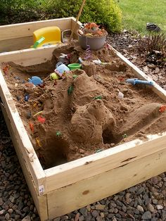 """{New Sandbox Toys?} A summer or two ago my husband built this awesome sandbox. We are in need of a few new toys for spring, for our sandbox and the beach! Have you created your """"Spring Wishlist"""" yet on Pinterest? Tomorrow is the last day. If I won a free Pinterest board of toys I'd pick these things..."""