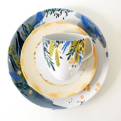 Painted ceramics by @kellyventuradesign