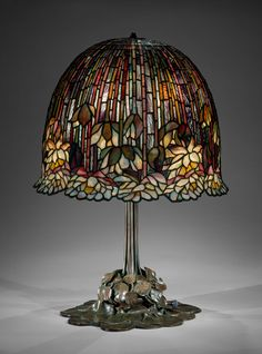 Lamp, Louis Comfort Tiffany, Tiffany Studios, NY USA, American, leaded Favrile glass and bronze, 1904-15