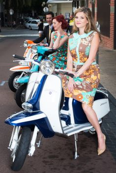 Girls on Lambrettas and a bloke in the background, but he doesn't count ;)
