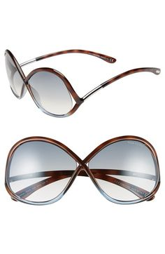 Tom Ford 'Ivanna' 64mm Sunglasses available at #Nordstrom - love these, but NOT $400 love them