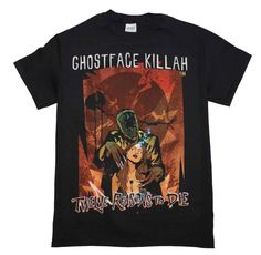 Check out our Ghost Face Killah 12 Reasons to Die Graphic Shirts on Deja-Vudo. Designs for everyone to look stylish. Ghostface Killah, Ghost Faces, Wu Tang Clan, Edgy Outfits, The Ordinary, Mens Tops, T Shirt, Wutang, Slums