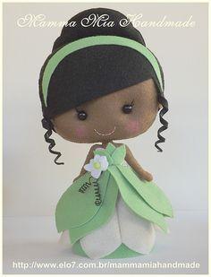 Tiana PDF, ||| doll, plush, Disney, Princess and the Frog, felt, fabric