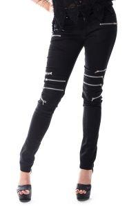 Vixxsin - Gothic Röhrenhose mit Zippern - Remission Pants