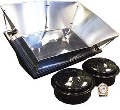 Solavore Sport Solar Oven - Portable Solar Cooking Package Complete with All Season Solar Reflectors, 2 Granite Ware Pots, Oven Thermometer, and Water Pasteurization Tool Camping Oven, Solar Cooker, Solar Oven, Long Term Food Storage, Oven Cooking, Cooking Tips, Cooking Recipes, Emergency Preparedness, Emergency Kits