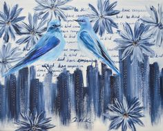 View Blue Birds on the City by Joanne H Kim. Browse more art for sale at great prices. New art added daily. Buy original art direct from international artists. Shop now