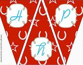 Bunting {Happy Birthday} Printable: Modern Cowgirl Party {INSTANT DOWNLOAD} Dunham Design Company