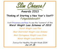 In the news: Healthy Weight Week and the Slim Chance Awards — Chelsea Fielder-Jenks Professional Counseling