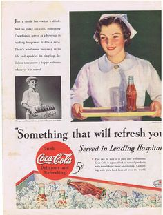 Vintage Coke-Cola Nurse with Coke on Tray (Image1)