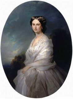 """Portrait of Countess Sophia Bobrinskaya"" by Franz Xaver Winterhalter, 1857 Franz Xaver Winterhalter, Victorian Paintings, French Paintings, Female Portrait, Female Art, Historical Hairstyles, Baroque Painting, European Dress, Ideal Image"