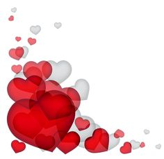 Transparent Hearts Decor PNG Clipart