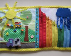 Quiet book busy book page Africa by QuietToys on Etsy