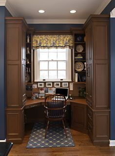 You won't mind getting work done with a home office like one of these. See these 18 inspiring photos for the best decorating and design ideas for your home office. Beautiful Interior Design, Contemporary Interior, Home Interior Design, Interior Architecture, Interior Decorating, Decorating Ideas, Interior Ideas, Home Study Design, Home Office Design