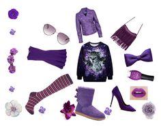 """""""Purple"""" by ellbellwake ❤ liked on Polyvore"""