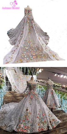 Real Photo 2017 Gray High Quality Luxury Lace Applique Wedding Dress Vintage Cathedral Train Ball Gown Bridal Gowns with Shawl