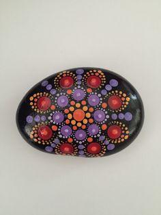 Mandala Stone- Hand Painted Rock- dot painting- meditation- inspiration- decoration by FloridaFunshine on Etsy https://www.etsy.com/listing/384766060/mandala-stone-hand-painted-rock-dot