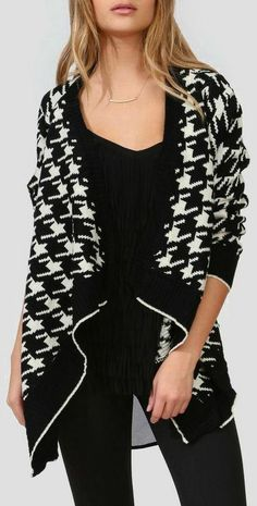Hounds Tooth Open Cardigan ♥