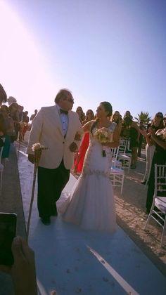 Vestido novia, boda en la playa.